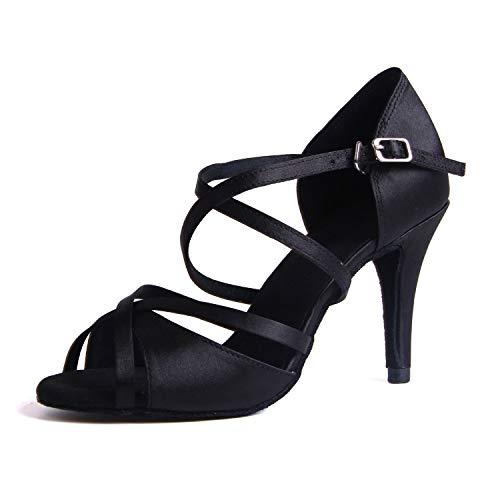 Syrads Zapatos de Baile Latino para Mujer Salsa Tango Bachata Vals Zapatos de Baile de Salón Suela Blanda 1010