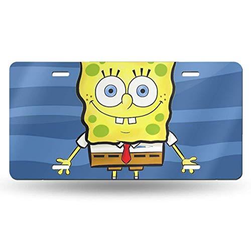 Suzanne Betty Aluminum License Plates - Draw Spongebob Squarepants License Plate Tag Car Accessories 12 X 6 Inches