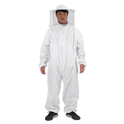 Zerodis Imkerei Anzug Schutzbekleidung mit Schleier Bienenzucht Werkzeuge Zubehör Imkerei Ausrüstung für Mann Frauen Professionell(XXL)