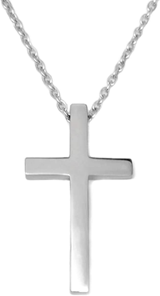 Cheap Fashion Mens Stainless Steel Cross Ring Chain Pendant Necklace 0a!ALVX