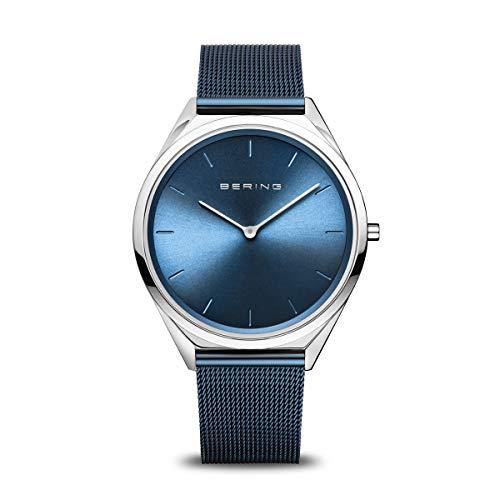 BERING Unisex Analog Quartz Uhr mit Edelstahl Armband 17039-307