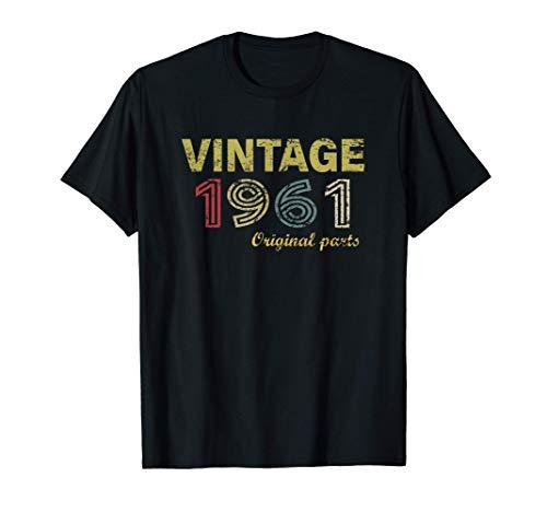 Vintage 1961 Divertido Regalo 60 cumpleaños Hombre Mujer Camiseta