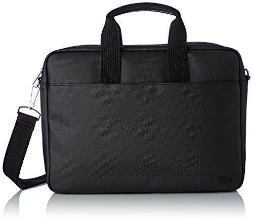 Lacoste Herren NH2451 Laptoptasche, Schwarz, 29x7.5x39 cm