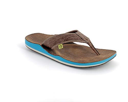 Moorei leather men Zehensandale/Flip Flop mit nach Fußabdruck individuell optimiertem Fußbett