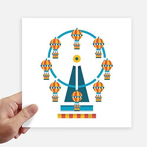 DIYthinker Funny Park Incroyable Grande Roue Illustration Autocollant carré 20CM Mur Valise pour Ordinateur Portable Motobike Decal 4Pcs 20cm x 20cm Multicolor