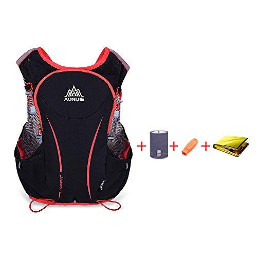 5L Sport Outdoor Courir Vest Sac à Dos Femmes/Hommes Hydratation Vest Pack pour Sac d'eau 1.5L Cyclisme Randonnée Sac
