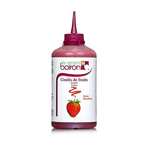 Boiron Coulis / Sauce - Erdbeere, 16% Zucker, Squeeze Flasche, TK, 2x500g. insgesamt 1kg.