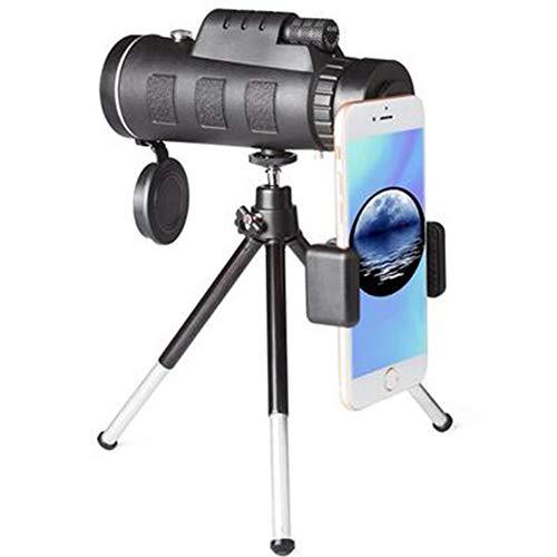 WZP-40x60 Telescopio Monocular HD Zoom Óptico Telescopio Impermeable y a Prueba de Niebla para la observación de pájaros, Turismo, Caza, Acampada y Concierto