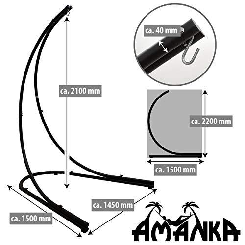 AMANKA Hängestuhlgestell 210 cm Hängesesselgestell aus Stahl max. 150 kg für XXL Hängestuhl Hängesitz Freistehendes Metall Gestell - 4