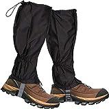 ゲイター 登山スパッツ 防水ブーツ 泥除け 雨よけ 雪対策 トレッキング アウトドア 通気性 高耐久性 男女兼用 簡単装着 (黒)