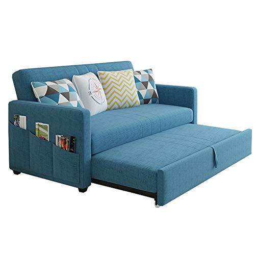SUCHEN Multifunktionale Schlafsofa Stoff Dreisitziges Sofa Push-Pull Sofabett