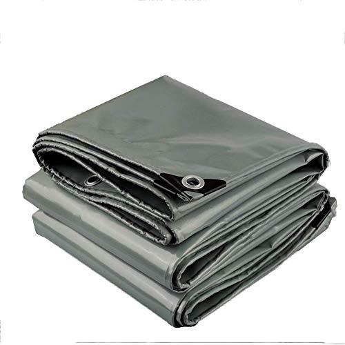 WYJW dekzeil grijs waterdicht dubbelzijdige veelzijdige vloerbedekking voor buiten - 550 g/O - 0,45 mm (grootte: 5X8 m) 5X7m