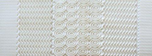 Rio Home Fashions MFT-307-8CK 5 Zone 1.5 inch Memory Foam Mattress Topper, California King, White