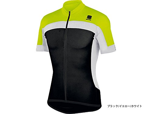 Sportful Maillots Pista Long Zip Black/Yellow/White M