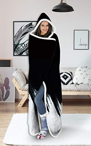uideazone Hooded Blanket Hoodie Women Mens Grafitti Graphic Cool Plush Fleece Wearable Blankets for...