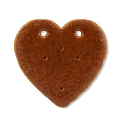 Lebkuchen Herz Rohlinge ohne Alles - 14cm mit Löchern - Premium Qualität - Frisch & Saftig! Lebkuchenherzen zum selber Verzieren