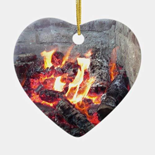 happygoluck1y Feuerschalen-Ornament, Herz-Porzellan, Weihnachtsbaum-Dekoration, Ornamente, Quarantäne 2020, Geschenke, Andenken, Ornamente, für Kinder