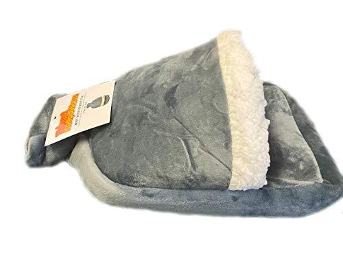 Calentador de pies calentado - Botella de agua caliente Pie Muff Snug pies más cálido Gris