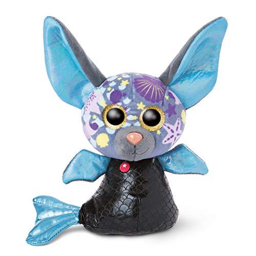 NICI 46824 Original – Glubschis Sirena murciélago Laguna–Lu 15 cm I Juguete Suave para niños Desde 0 Meses y Adultos I Animal de Peluche con Grandes Ojos Brillantes, Color Azul
