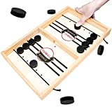 Fast Sling Hockey Puck Game - Table Hockey Game Fun and Competitive Table Game for Adults and Kids Chram Moi