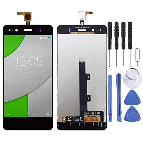MENGHOGNGLIF Teléfonos móviles Piezas de Repuesto Pantalla LCD y ensamblaje Completo del digitalizador for BQ Aquaris A4.5 (Color : Black) ✅