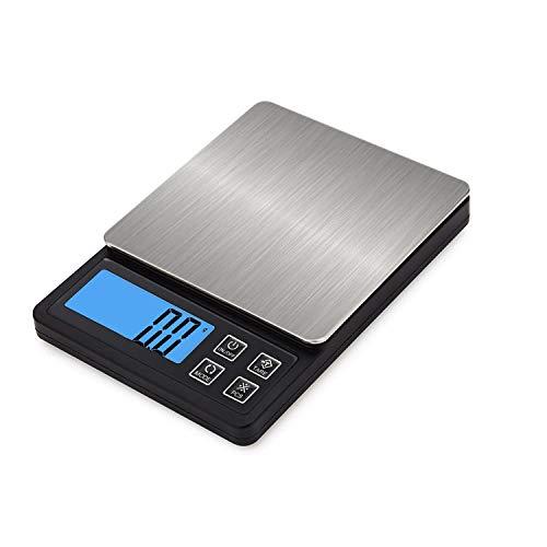 Miliway デジタルスケール 3kg 0.1g キッチンスケール USB充電式 乾電池両対応 超小型 はかり 料理 電子秤 個数計算 風袋引き機能 オートオフ お菓子作り 料理用 製菓道具 MW303H