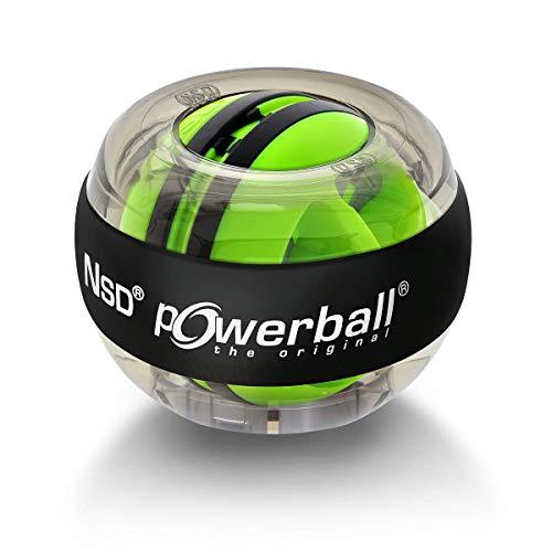 Powerball Autostart gyroskopischer Handtrainer in transparent-grau inklusive Autostart-Mechanik zum Aufziehen