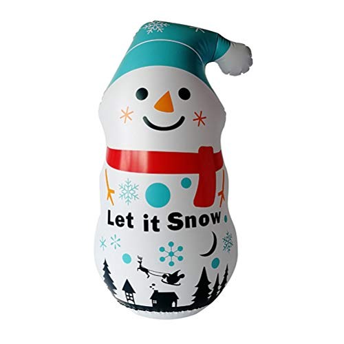 Suszian Muñeco de Nieve Inflable de PVC Modelo de Aire Inflable de Navidad Decoración al Aire Libre para jardín, Decoración navideña Uso doméstico/Comercial, 115 * 60 cm