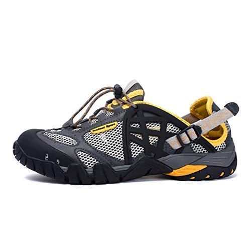 XJWDNX Herren Outdoor Wanderschuhe Sommer Atmungsaktiv Herren Turnschuhe Schnelltrocknend Aqua Schuhe Wasserschuh Klettern Trekkingschuhe