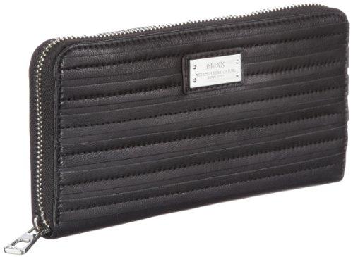 Mexx 12kaw255 Striped 3FKWM005, Damen Portemonnaies, Schwarz (Black 1), 19x10x2 cm (B x H x T)