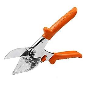 Cortador de inglete multiángulo 45 – 135 grados ajustable, ángulo ajustable, tijeras multitijeras en ángulo para cortar plástico PE, madera blanda de PVC