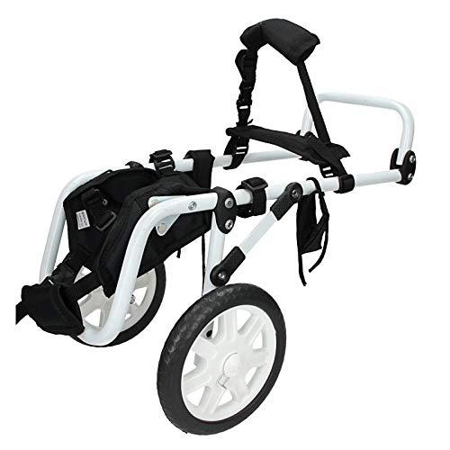 4U-Onlinehandel Hunderollstuhl für vordere Füße Rollstuhl Hund Hunderollstuhl Gehhilfe Hundegehilfe Rollwagen Hunderollwagen weiß
