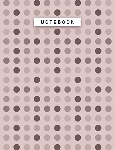 Notebook Rosy Brown Color Geometric Polka Dots Patterns Cover Lined Journal: 21.59 x 27.94 cm, Tax, Journal, 110 Pages, 8.5 x 11