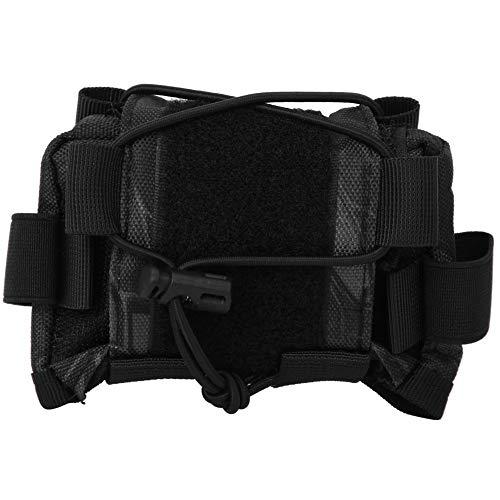 SOONHUA Helm-Gegengewicht-Akku-Aufbewahrungstasche, multifunktionale Tasche für Helmzubehör, Schwarz