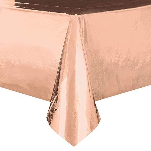 Unieke partij 53273 - Foil Rose Gold Plastic tafelkleed, 9ft x 4.5ft 9ft x 4.5ft Goud