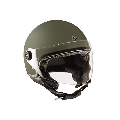 casco moto verde Tucano Urbano CASCO EL JETTIN Verde Airborne Opaco S
