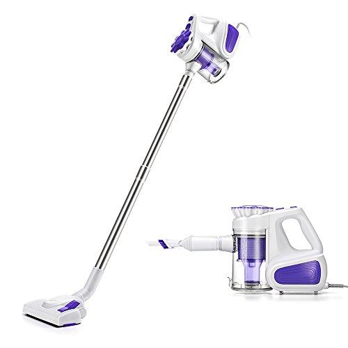 掃除機 サイクロン スティッククリーナー 紫 ハンディクリーナー ハンディ 軽量 クリーナー
