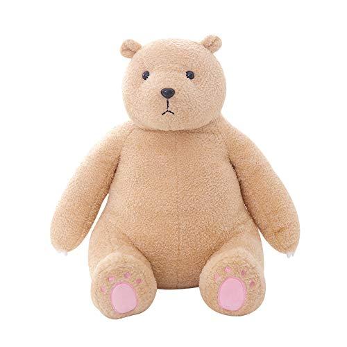 Metermall Home pluche gevulde pop Bear Shape Toy Sierkussen voor kinderen Vriendin Slapen bruin