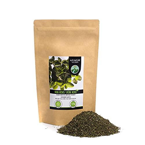Hierbabuena (125g), corte menta verde, suavemente secado, 100% puro y natural para la preparación de té, menta marroquí, té de hierbas