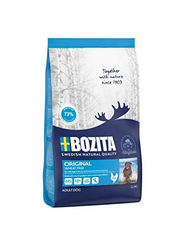 BOZITA Original Weizenfrei Hundefutter - 1.1 kg - nachhaltig produziertes Trockenfutter für erwachsene Hunde - Alleinfuttermittel
