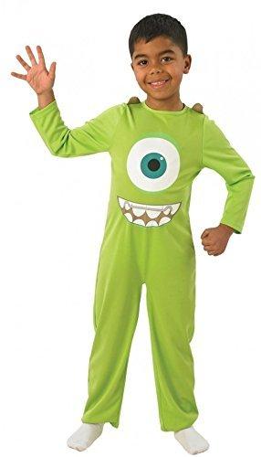 Monstruos University - Disfraz infantil de Mike para niño, Talla 3-4 años (880076-S)