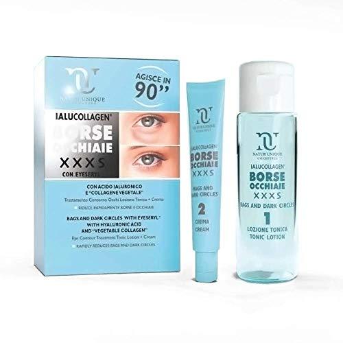 Natur Unique Ialucollagen Borse Occhiaie XXXS - Trattamento contro borse e occhiaie efficace per uomo e donna in appena 90 secondi. Effetto tensore, dura per 8 ore.