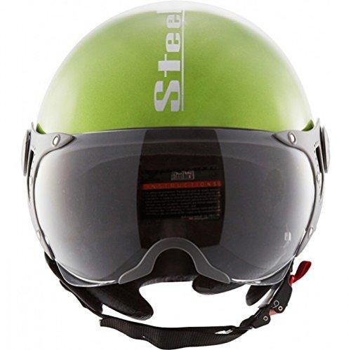 Steelbird ABS Shell SB-27 Style Mat Helmet with Plain Visor, 600 mm, Y. Green