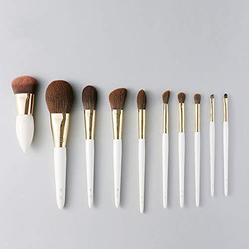 Hzyig Dix ensembles de pinceaux for le maquillage Poudre for pinceau Réparation Rong Gaoguang Nez Ombre Coloration Fond de teint Smudge Pinceau à sourcils Pinceau à cheveux en fibres synthétiques ou a