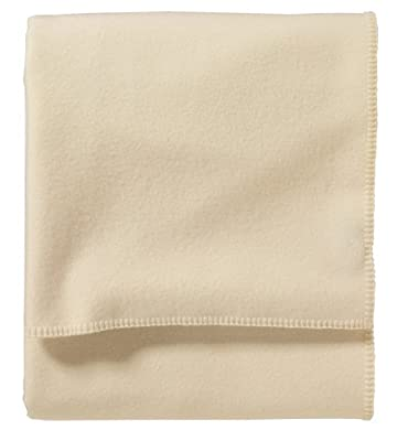 Pendleton, Eco-Wise Washable Wool Blanket, White, Twin