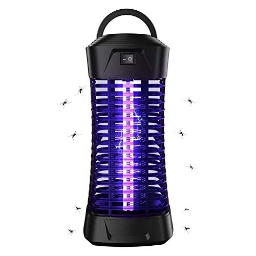 WUEAOA Lámpara Antimosquitos Eléctrico 6W, Luz UV Mosquito Lámpara Trampa, Mosquito Killer...