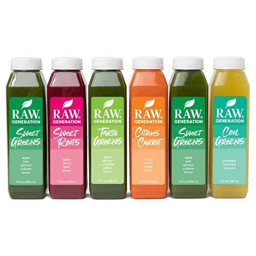 Cold Pressed Juice Variety Pack (Best Sellers Pack) - 100% Plant Based Juice Delivered to Your Door - Boost Your Immune System, Increase Your Energy (30 pack)