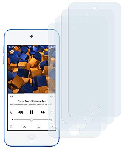 mumbi Schutzfolie kompatibel mit iPod Touch 5G 2012 Folie, iPod Touch 6G 2015 Folie klar, iPod Touch 7G 2019, Displayschutzfolie (4x)