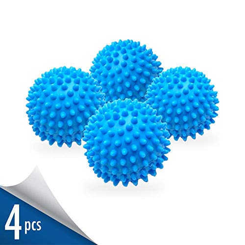 Laundry Dryer Balls - Clothes Will Come Out Soft, Fluffy, Fewer Wrinkles and Less Static Cling. A Natural and Better Alternative to Fabric Softener. Reduce Drying Time and Save on Energy