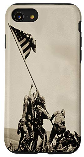 iPhone SE (2020) / 7 / 8 Iwo Jima American USA US Flag Raising WW2 WWII Veteran Case